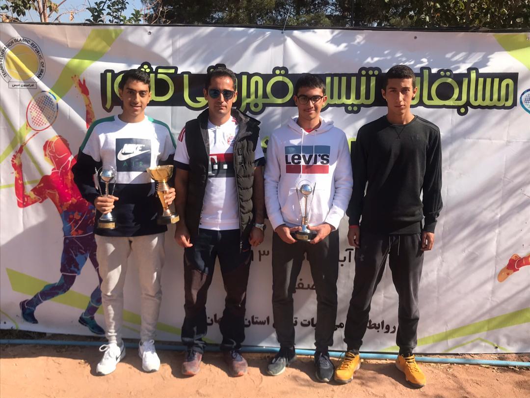 کسب مقام سوم انفرادی و دومی مسابقات دو نفره تنیس قهرمانی کشور زیر 16 سال توسط تیم فارس