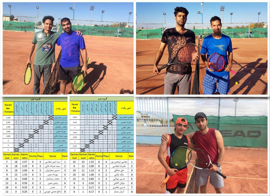 پایان هفته چهارم لیگ تنیس شهرستان جهرم