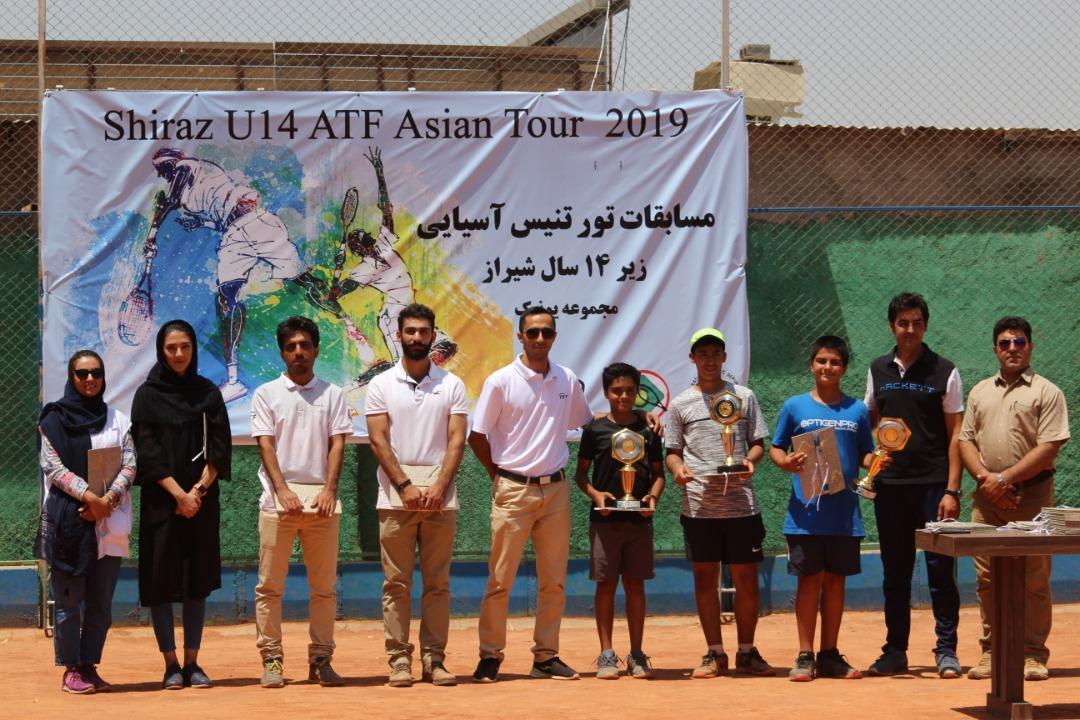مسابقات تنیس تورآسیایی زیر 14 سال شیراز(ATF)  به پایان رسید